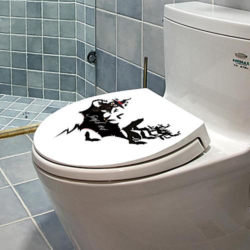 Bioaldla Store Hallowmas Toilet Seat Wall Sticker Decals Vinyl Art Wallpaper Removable Decor