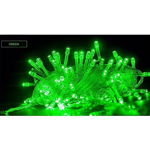 100 LED Christmas Decoration Lights - Green