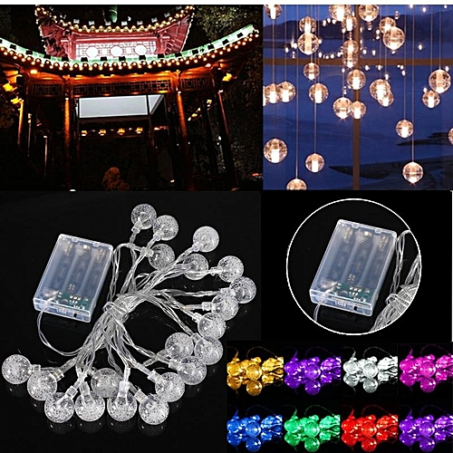 3M 20 LED Crystal Ball Fairy String Light Christmas Garden Garland Waterproof Pink