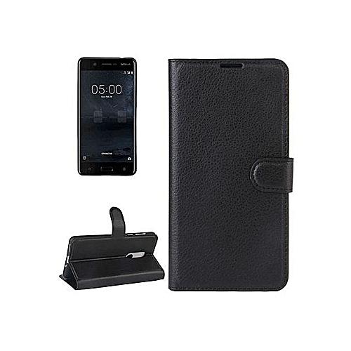 quality design e6c2d 27e9d Nokia 8 Leather Flip Case Black