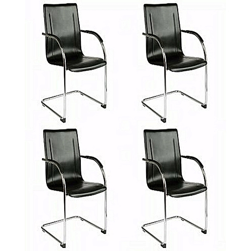 Conference & Visitors Leather Office Chairs (Pack Of 4)