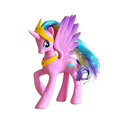 BlueLife Unicorn With Wings Figure Desktop Decoration #5- Pink