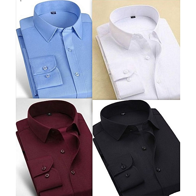 Long Of Four For Multing Fashion Shirts Men Set Sleeve c453qARjL