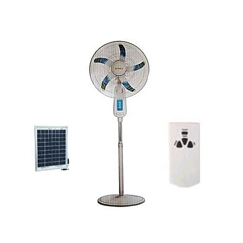 18 Inch Rechargeable Standing Fan With Remote Control + FREE Lontor Solar Panel (SP008)