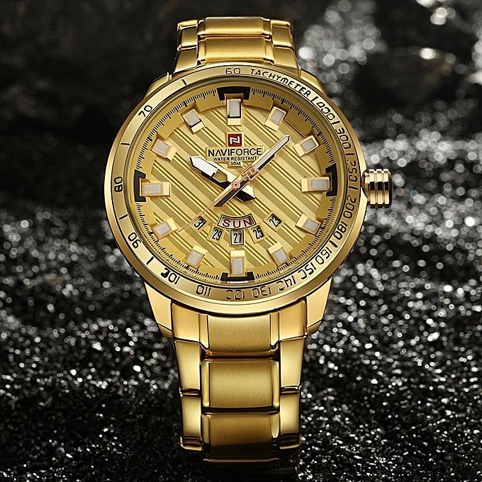 Luxury Brand Men Stainless Steel Gold Watch Men S Quartz Clock Man Sports Waterproof Wrist Watches