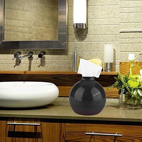 Round Bomb-Shape Tissue Box Toilet Paper Pot Holder