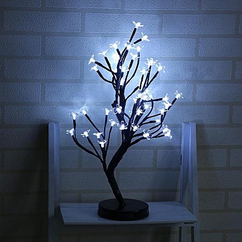 48 LED Plum Blossom Desk Top Bonsai Tree Light