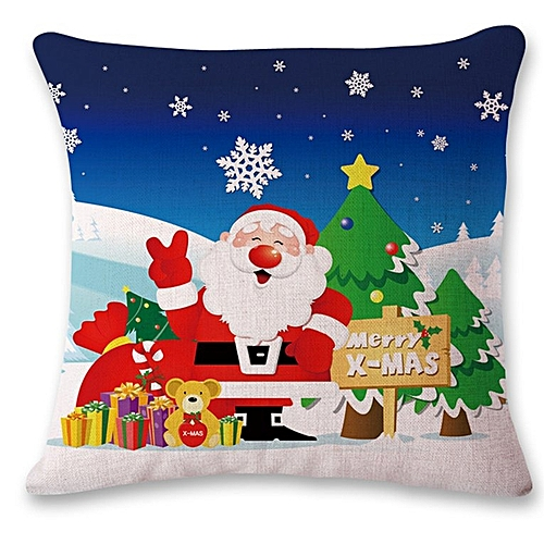Christnas Fashion Design Cotton Linen Pillow Cover Super Soft With LED