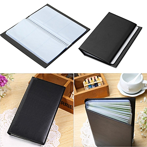 300 Cards Leather Business Name ID Credit Card Holder Book Case Keeper Organizer