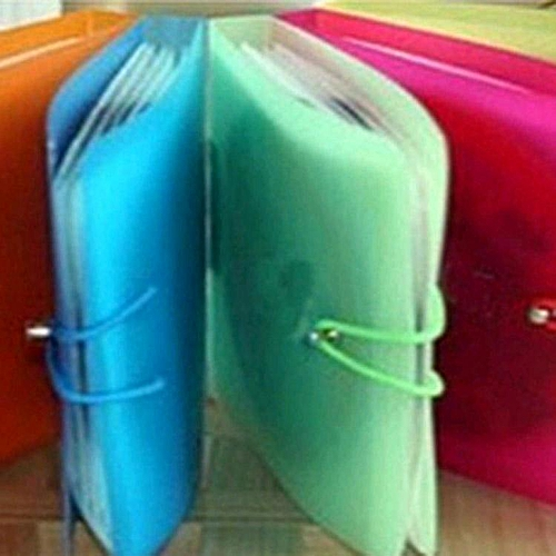 12Pcs/Set CD DVD Disc Double Holders Pack Multi-color Storage Case Bag Container Useful