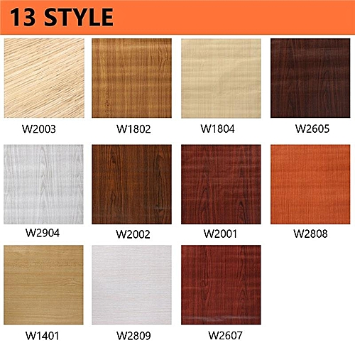 3PCS Wall Wood Grain Mural Decal Self Adhesive PVC Wallpaper Film Sticker Decor 10M Rice White