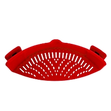 Fashionhead@Vegetable Noodles Washing Sieve Kitchen Cleaning Strainer Draining Liquid Tool-Red