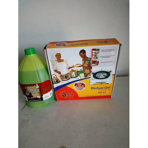 Single Burner And 3-Litre Biofuel Gel - Set Of 1