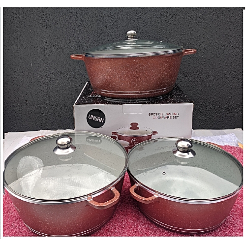 Linsan 6pc Die Casting Cookware Set