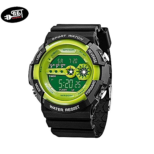 Men LED Digital Sport Watch Multi-function Waterproof Electronics Wristwatch Casual Watches