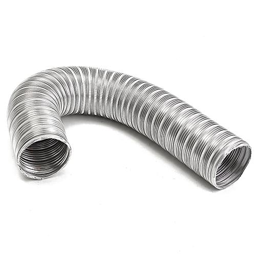 1m Aluminum Foil Bathroom Kitchen Extractor Fan & Cooker Hood Flexible Ducting Pipe,125Mm