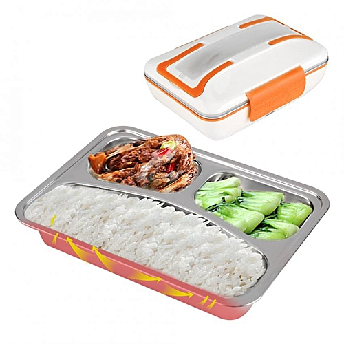 12V 40W Electric Heating Lunch Box Stainless Steel Food Container