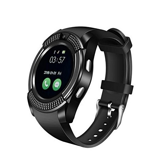 V8 Smart Watch Sim Card Bluethoot Smart Watch - Black