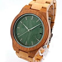 Bobobird Green Wood Full Of Bamboo Movement Japan 2035 Quartz Watch Bamboo Green Surface