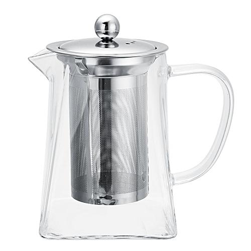 550ML/750ML Glass Tea Teapot Stainless SteelInfuser Filter Infuser Leaf Tank