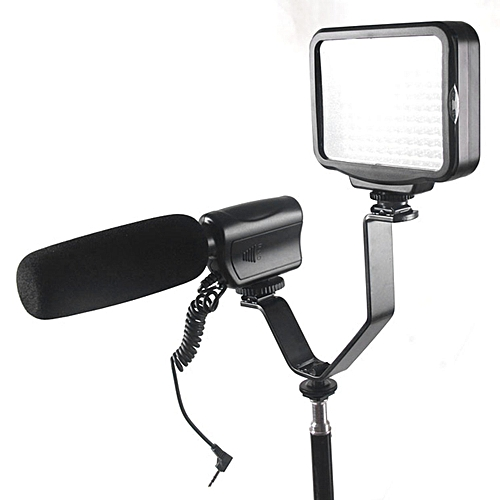 Camera Triple Mount Hot Shoe V Bracket For Monitors Microphones
