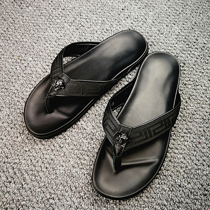 ec9913d61374c4 New Leisure Male Sandals Comfortable Summer Leather Slippers Men Size 38-46  Black