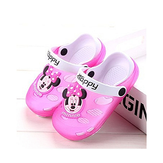 8ad668804793 Fashion Kids Cartoon Sandals Children Slippers Soft Sole Flip Flops  Non-slip Hollow Beach Shoes Outdoor Slipper