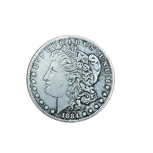 Antique Currency Morgan Silver Coin Memorable $1 1884 Display Gifts Commemorative Coin Craft Collection