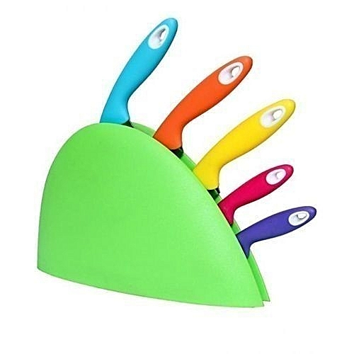 Set Of 5 Classic Knife WithColour Base