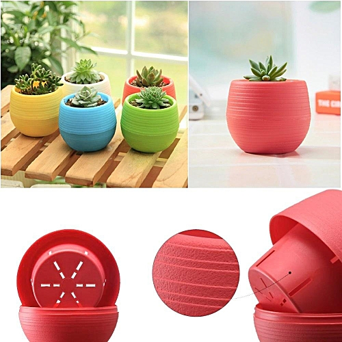 Mini Colourful Round Plastic Plant Flower Pot
