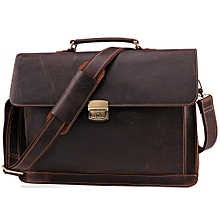 c9a9376813 JOYIR Crazy Horse Leather Men's Briefcase Vintage Messenger Shoulder  Bag Men&#