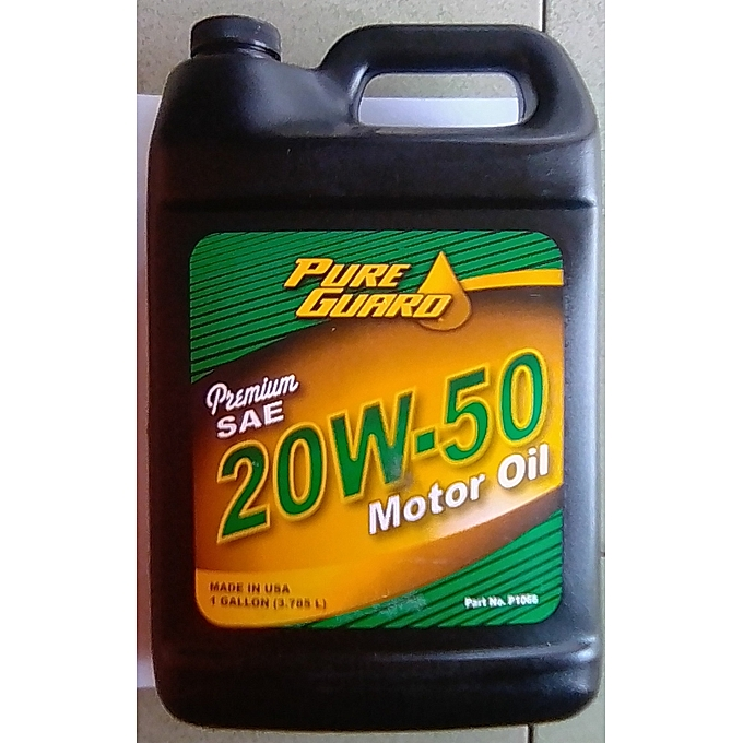 Buy pure guard premium motor oil sae 20w 50 engine oil for Best price motor oil