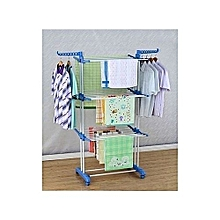 Cloth Hanger Rack With Double Pole-Stand - 3 Tier