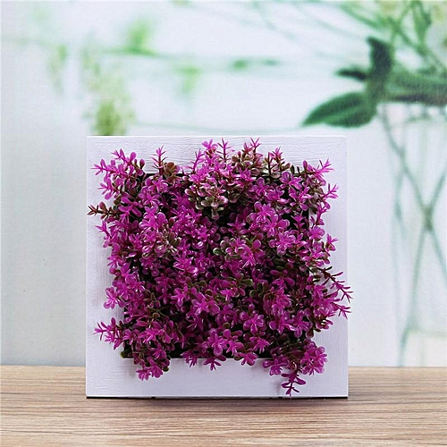 Square Mounted Vertical Wall Hanging Artificial Flower Home Office Decoration