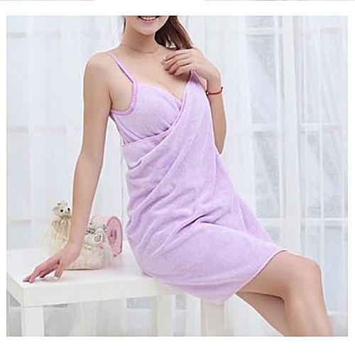 Female Body Wrap Towel - Purple