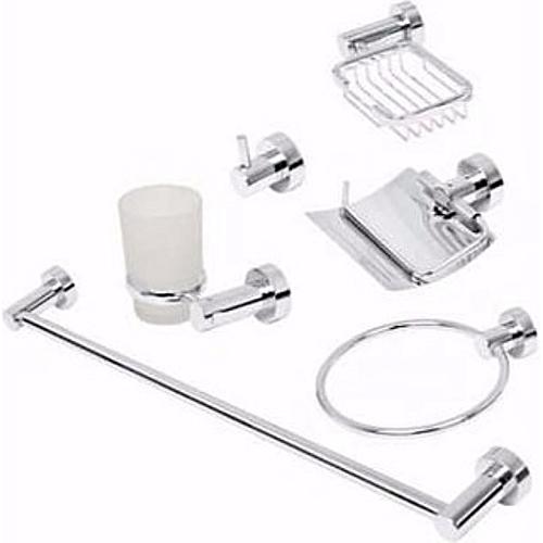 Multiple Bathroom Accessories Steel 7 In 1