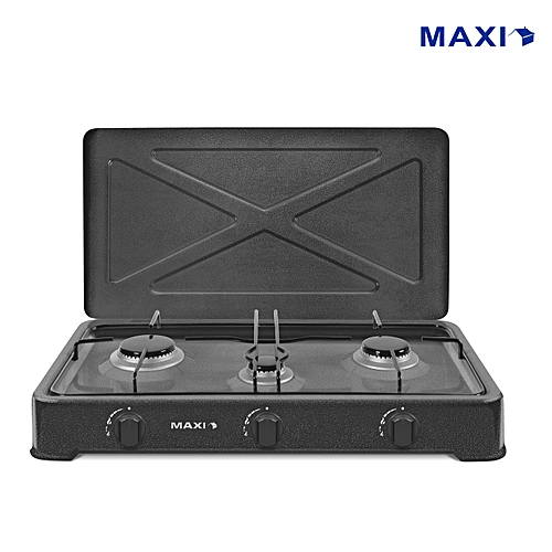 Table Top 3 Burner Gas Cooker - 300-Grey