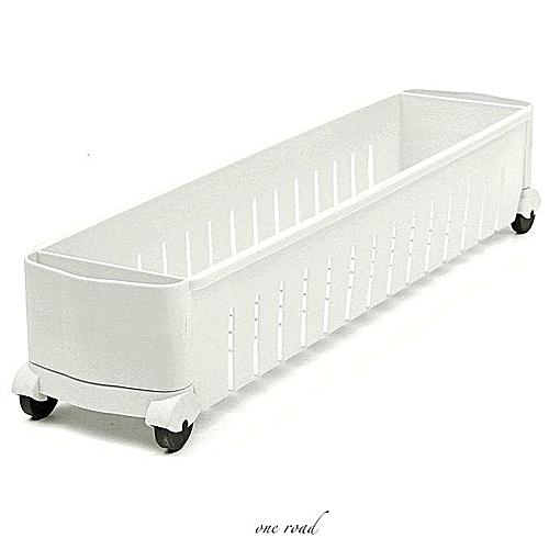 New Mobile Kitchen Storage Rack Clocase Bedroom Bathroom Cleaner White