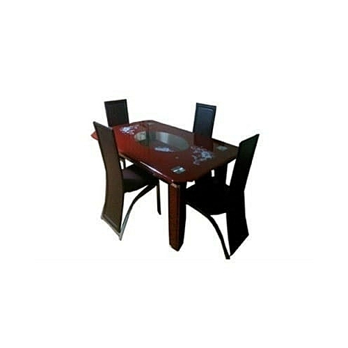 Glass Dinning Set - Brown