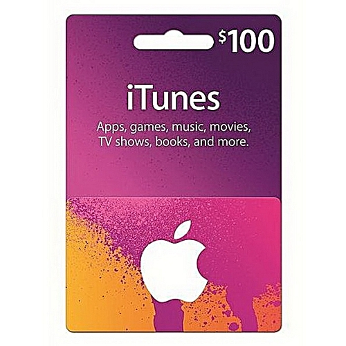 $100 Apple ITunes Gift Cards -USA