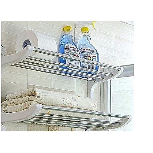 Double Towel Rail Rack Shelf