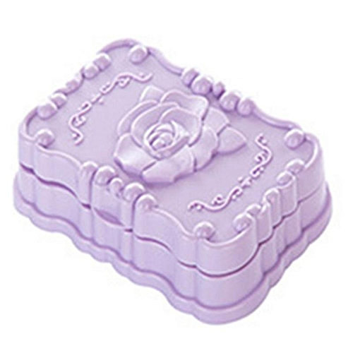 Eleganya 1pc High Quality Rose Carved Soap Box With Cover Waterproof For Bathroom Accessories