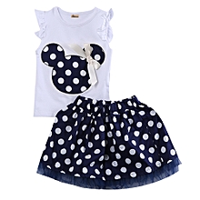 3483968e5f9 Toddler Baby Girls Kids Cartoon Dress Dot Clothes Set Red