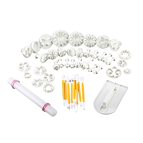 46 Pcs Plastic Cake Molds Fondant Cutter Decorating Cutter