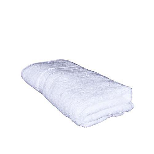Large Bath Towel White Cotton- White