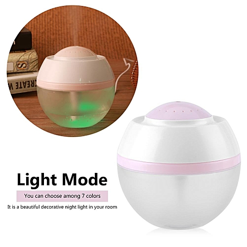 Mini Ultrasonic 7 Colors LED USB Rechargeable Aroma Humidifier