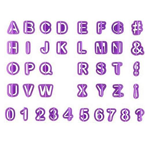 40 PCS Special Plastic Cookie Cutter Mold Baking Letter Shape Purple