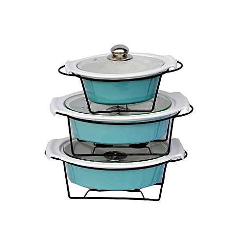 3pcs Dining And Kitchen Plate- Blue