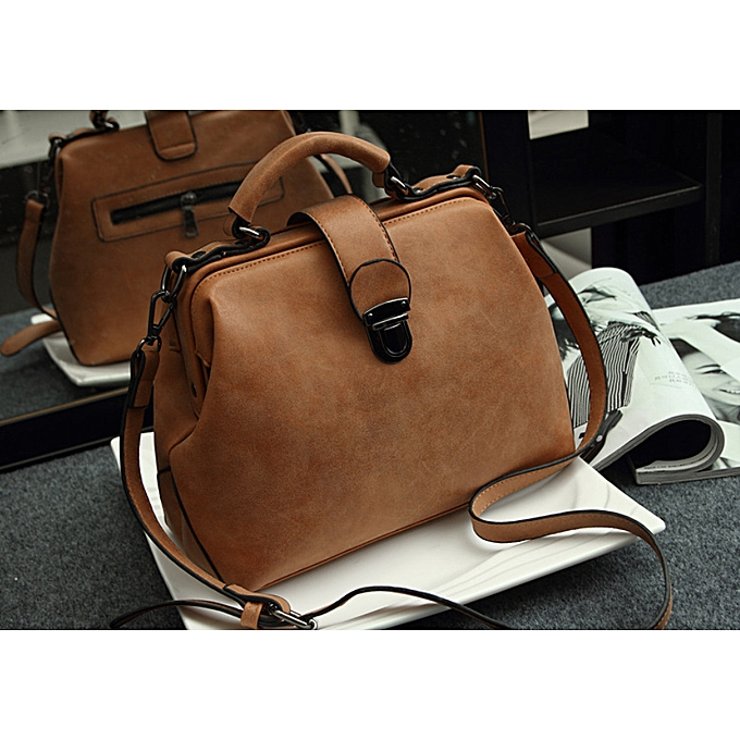 eb662870857d Nubuck Leather Doctor Handbags Women Shoulder Bags Plaid Pu Messenger Bag  Lady Totes Small Crossbody Sling