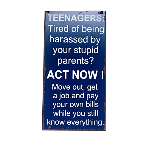 Sign - Teenagers Act Now